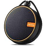 COMISO IPX7 Altavoz Bluetooth Resistente al Agua, Altavoz inalámbrico para Ducha, con Sonido HD, Soporte para Tarjeta TF, Ventosa, Tiempo de Juego 12H, para Kayak, canotaje, Senderismo (Naranja)