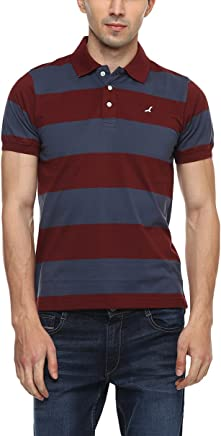 AMERICAN CREW Men's Cotton Polo T-Shirt (Blue)