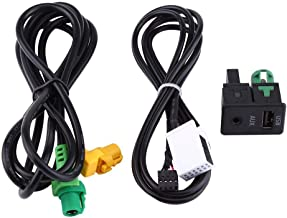Keenso Car AUX Switch & USB Wire Cable Adapter Socket with Wire Harness for BMW 3 5 Series E87 E90 E91 E92 X5 X6