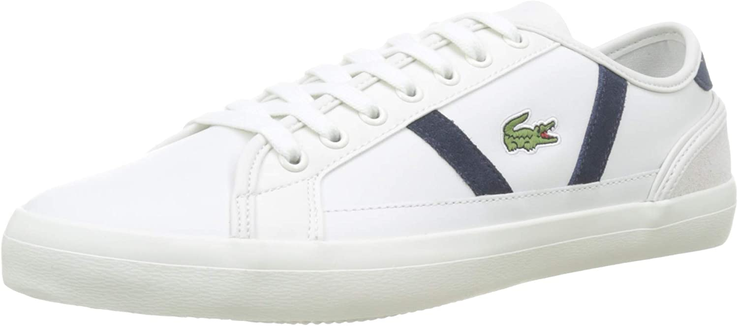 Lacoste Men's Sideline Off White Leather Sneakers