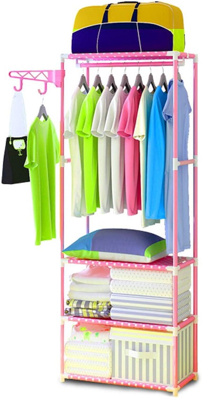 Garantía 100% de ajuste Coat rack ZI Ling Ling Ling Shop- Perchero Sencillo Perchero de Dormitorio Percha Estante de consolidación de Almacenamiento Hogar Habitación de Hierro  marca en liquidación de venta