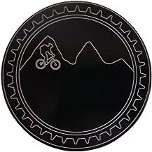 "product image for HMC Billet Mountain Bike Aluminum 4"" Laser Engraved Trailer Hitch Cover"