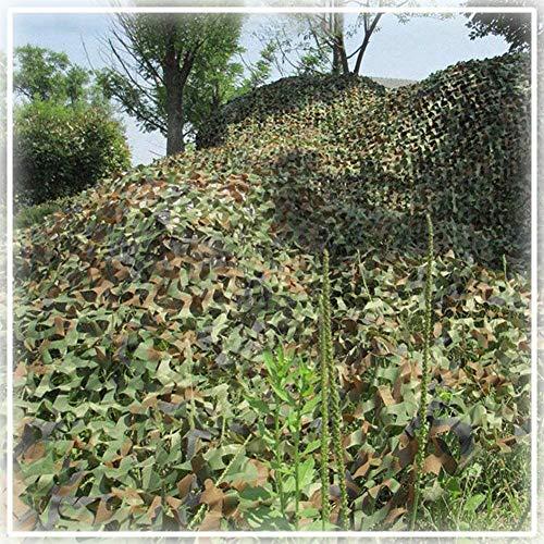 Yibcn 150d Oxford Poliéster Malla De Camuflaje, 2x3m, 2x6m, 3x6m, 4x6m,10x10m Red De Camuflaje Sombra para Ejército Jardín Camping, Múltiples Tamaños