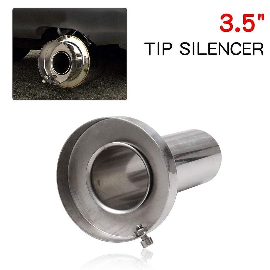 RYANSTAR Exhaust Muffler Round Removable Silencer 3.5