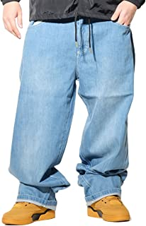 (サウスポール) South Pole バギー デニムパンツ メンズ 極太 ジーンズ 4カラー 大きいサイズ b系パンツ CLASSIC BAGGY ORIGINAL FIT