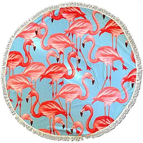 BEUFIRST Toalla de Piscina Redonda 100% Polyester de Secado rápido pelícanos. (150 cms diámetro). Toalla de Playa poliéster Redonda. Toalla de mar