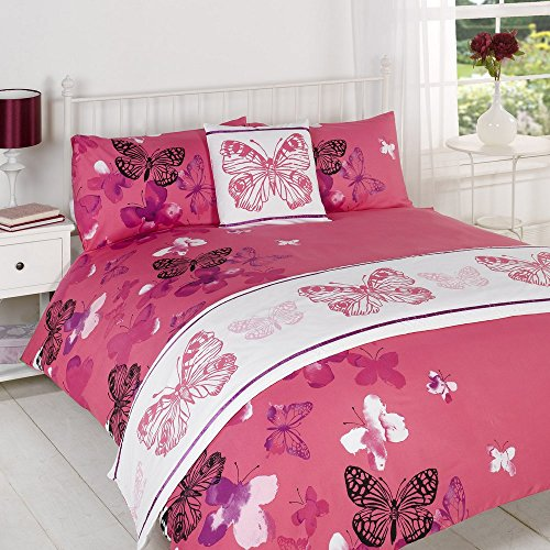 Polilla Pink Bed in a Bag eenpersoonsbed, kingsize maten, super king size, polyester, roze wit/paars, King Size