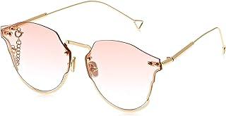 TFL Oval Sunglasses for Women - Pink lens, 7140Pink 150 mm