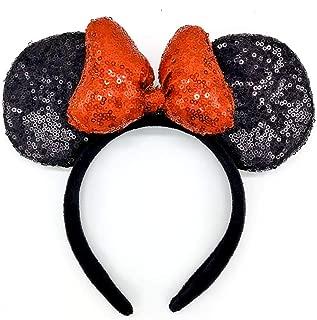 Three-Dimensional Minnie Sequin Ears Mickey Sequin Ears Adult Minnie Ears Adult Mickey Ears Sparkly Minnie Ears, Mouse Ears Headbands Butterfly Glitter Hairband