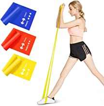 Fitlastics Resistance Bands 4FT Long for Strength Training, Stretching, Pilates, Yoga Exercises Home Fitness Workouts for ...