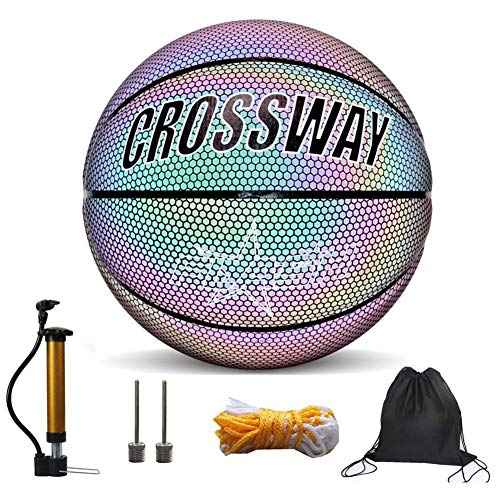Great Price! Light Up Basketball, Holographic Glowing Reflective Basketball, Light Up Camera Flash G...