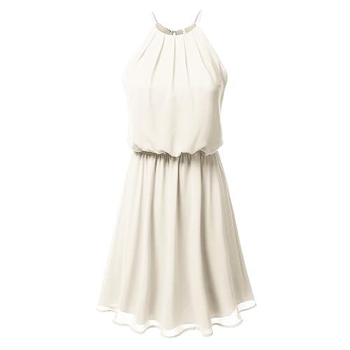 ab3463b36cb DRESSIS Womens Double Layered Chiffon Mini Tank Dress