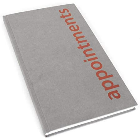 Agenda Appointment Book Assistant - Grey (3 Column)