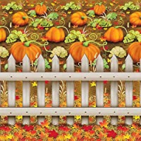 Image: Decorative Pumpkin Patch Backdrop, 4-Feet by 30-Feet | Visit the Beistle Store
