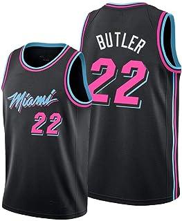 GHJK Maillot de basket-ball Lebron James Miami Heat 6# sans manches neutre pour homme tissu respirant pressant /à chaud