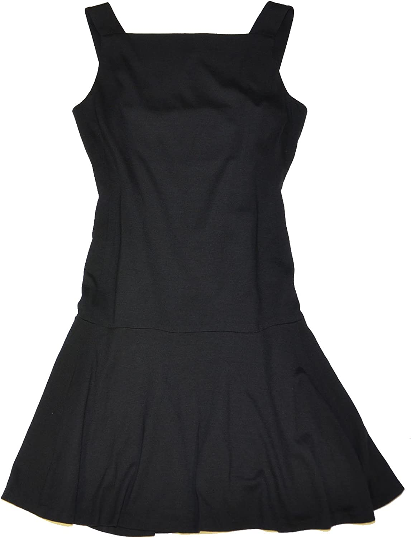 Ralph Lauren Women Fashion Sleeveless Wool Dress (8, Black)