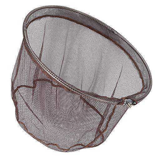 Demeras Red de pesca de aluminio, de alta calidad, con mango largo, plegable, duradera, para pesca y liberación de peces.