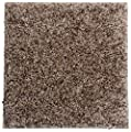 "Smart Squares Piece of Cake 9"" x 9"" Ultra Premium Residential Soft Carpet Tiles, Peel and Stick, Easy DIY Installation, Seamless Appearance, Made in USA (Sample, 858 Leather)"