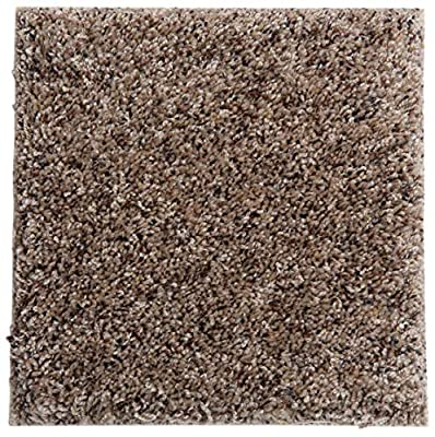 """Smart Squares Piece of Cake 9"""" x 9"""" Ultra Premium Residential Soft Carpet Tiles, Peel and Stick, Easy DIY Installation, Seamless Appearance, Made in USA (Sample, 858 Leather)"""