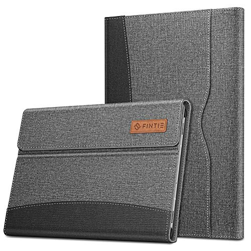 FINTIE Case for Samsung Galaxy Tab S6 10.5' 2019 (SM-T860 / SM-T865), [Supports S Pen Wireless Charging] Multiple Angle Portfolio Business Cover with Pocket Auto Sleep/Wake, Denim Grey