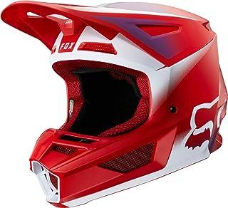 FOX V2 Vlar Motocross Helm Rot/Weiß XS