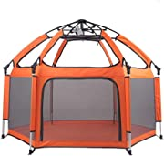Playpens Playpen Tent Fence Foldable Design Children s Ball Pit Tent Durable Mesh Ball Fence with Zipper Door Storage Bag Suitable for Children Size 150x130x100