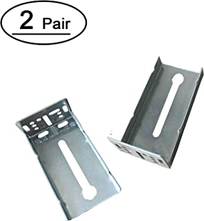 2 Pairs Rear Mounting Brackets for Drawer Slide - LONTAN B4502 Cabinet Drawer Bracket for Face Frame Cabinets for 1.77 inch(45mm) Width Drawer Gildes
