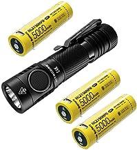 NITECORE Lanterna E4K próxima geração 21700 compacta EDC – 4 baterias de íons de lítio recarregáveis CREE XP-L2 V6-4400 lú...