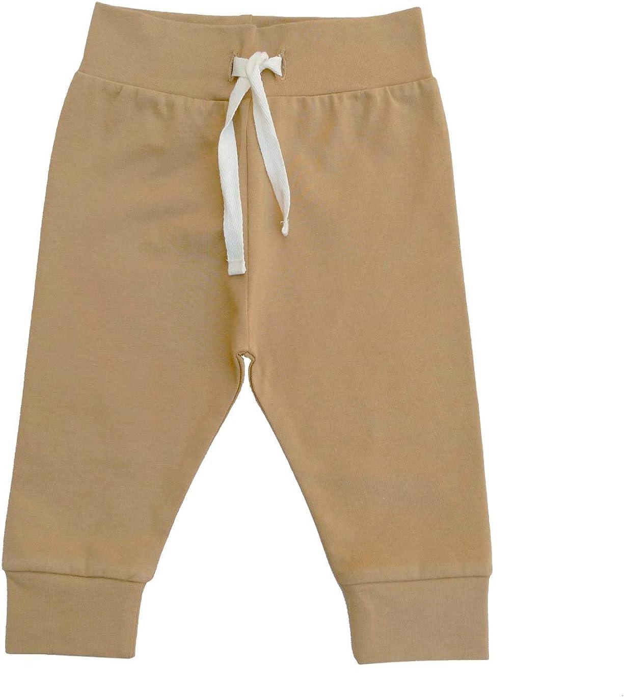 Lucy Lue Organics, Unisex Baby Organic Cotton Pants, Modern Baby Leggings (0-12m)