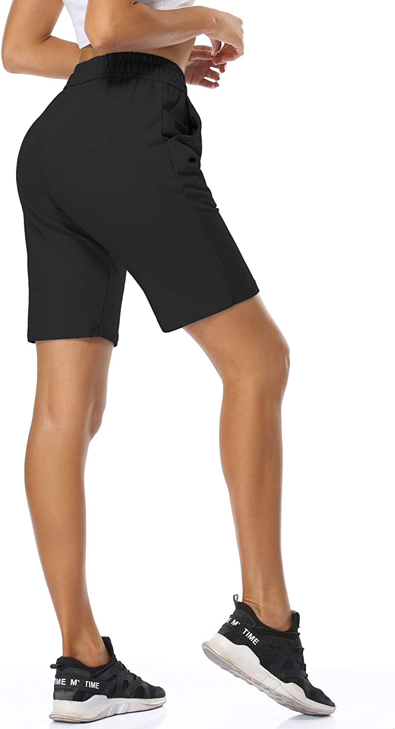 Cadmus Womens Casual Jersey Shorts Lounge Walking Shorts with Pockets Activewear