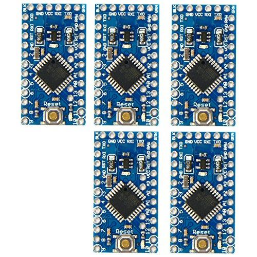 XCSOURCE® 5stk Pro Mini Verbesserung ATMEGA 328P 16MHz 5V Kompatibel Arduino PRO Modul TE362