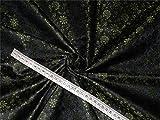 Brokat-Stoff aus Seide, Grün, Braun, Schwarz, 111,8 cm,