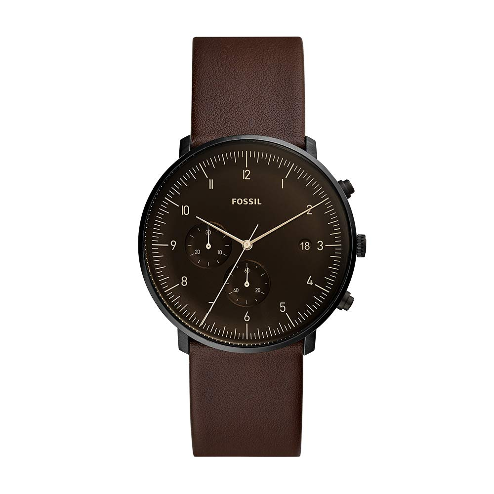 Fossil Chase Timer Analog Black Dial Men's Watch-FS5485