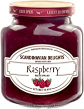 Elki's Gourmet Scandinavian Delights Preserves, Raspberry, 13.4 Ounce