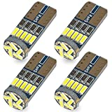 Safego 4x T10 W5W Wedge 192 168 194 158 LED Bombillas 15SMD 4014 Luz Interior del Coche Laterales Blanco Xenon 6000K 12V
