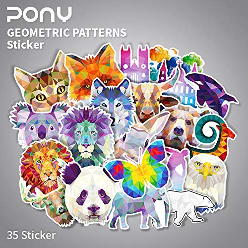 BLOUR Animal Panda Lion kofferstickers waterdichte notebook gitaarkoffer koffer brievenbus 35