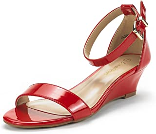 207f382f3eaf Amazon.com  Red - Platforms   Wedges   Sandals  Clothing