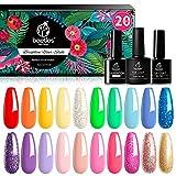 Best Gel Nail Polish Kits - Beetles Pack of 20 Colors Rainbow Summer Gel Review