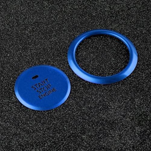 Ninuypoy Cubierta de Interruptor de Sistema sin Llave con decoración de botón de Arranque y Parada de Motor de Coche, para Mazda 3 Axela 2020 Cubierta de Interruptor de Encendido de Estilo de Coche