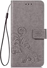 LAGUI Compatible for Samsung Galaxy A30s Case, Nicely Embossed Pattern Wallet Cover, gray