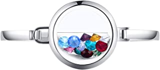 Floating Memory Charm Glass Locket Bracelet Bangle