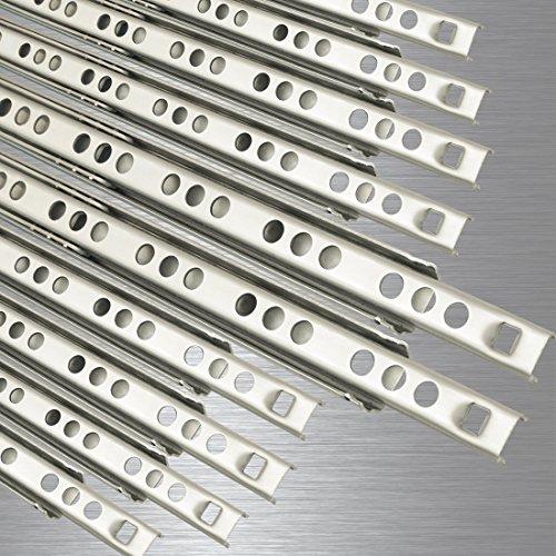 10 Schubladenschienen EDELSTAHL Teilauszug Rollenauszug Teleskopschiene Kugelführung Schubladenauszug H: 17 / L: 246 mm