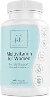 Multivitamin for Women Extra Strength Daily Vitamins with Biotin 1000mg - Natural Supplement - Made in USA - Best Vitamins A B C D E, Calcium, Zinc, Magnesium, Folic Acid - 100 Capsules
