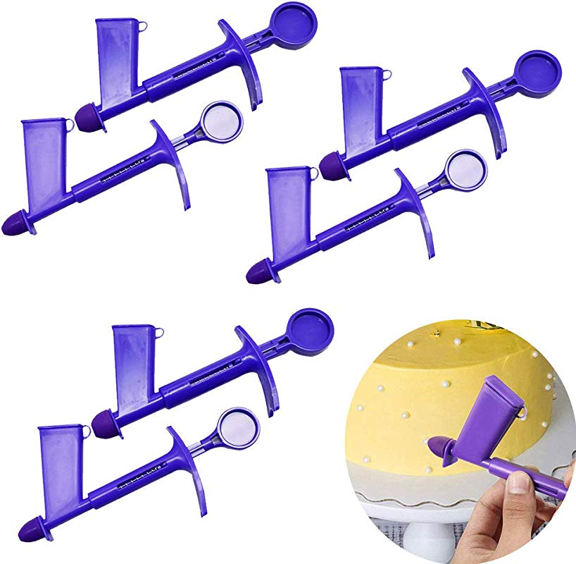 VinBee 6 PACK Plastic Pearl Applicator 2 Sizes Cake Pearl Applicator For Extruder Sugar Craft Cake Decorating Tools