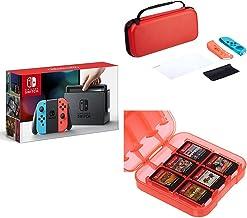 Console Nintendo Switch avec Joy-Con - Néon + Kit de protection + Boîte de rangement [Importación francesa]