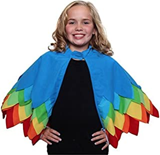 Kids Unisex Parrot, Toucan or Bird of Paradise Style Cape with Wings