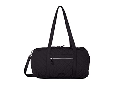 Vera Bradley Iconic Performance Twill Small Travel Duffel (Black) Duffel Bags
