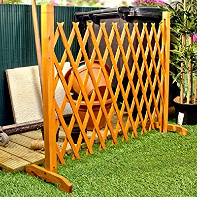 "Expanding Fence Garden Screen Trellis Style Expands to 6'2"" Freestanding Wood from Great Ideas By Post"