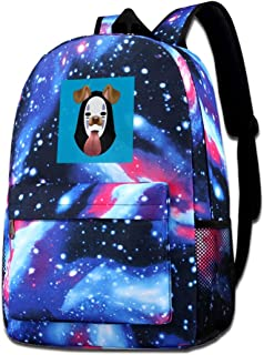 Galaxy Printed Shoulders Bag Spirited Away No Face Dog Snapchat Filter Fashion Casual Star Sky Backpack For Boys&girls