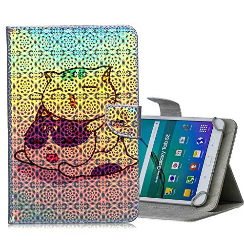 A-BEAUTY 8-8.9 Zoll Universal Hülle für Samsung/Kindle/Huawei/XiaoMi/Lenovo/Sony 8.0 8.4 8.9 Zoll Tablet, 1 Kostenloser Stift, Paar Katze